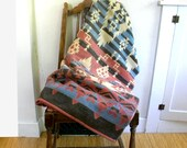 Collectible Camp Blanket / Cotton Beacon Blanket Esmond / Native American Design 1930s