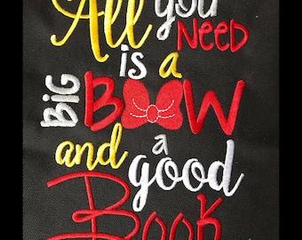 Big Bow Good Book saying design digital instant download