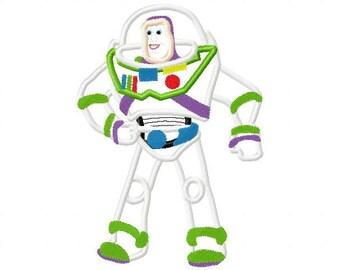 Robot applique design digital instant download 558