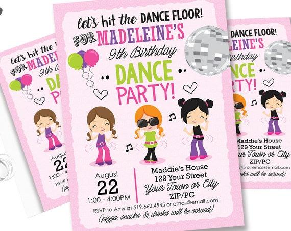 Retro Disco Birthday Invitation - Dance Party Invitation - Disco Dance Party - End of Year Party - Download & Personalize in Adobe Reader