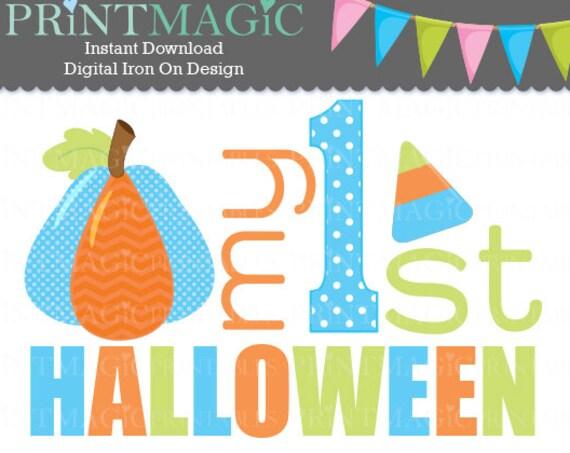 Halloween Digital Iron On or Digital Sticker Design - Baby 1st Halloween - Baby First Halloween - Baby Halloween tshirt design