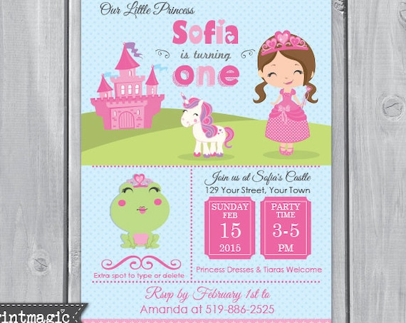 Fairytale Princess Invitation V2 - Princess Birthday Party - Princess Invitation - Download & Personalize at home in Adobe Reader