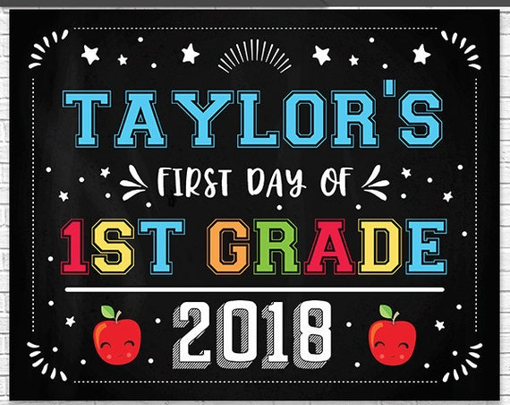 Last Day of School Chalkboard - First Day of School Chalkboard - Editable Text End of Year Chalkboard - Personalize it in Adobe Reader