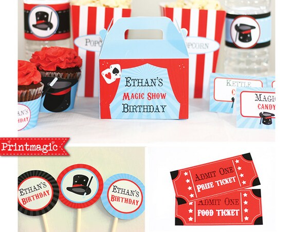 Magic Party Birthday Invitations & Decorations - Magic Invitation - Magic Birthday Party - Download and Personalize in Adobe Reader at home