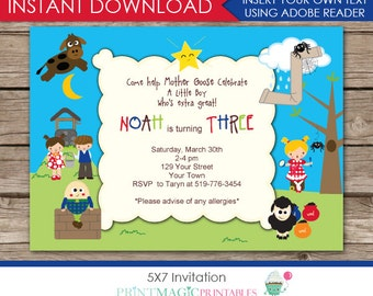 Nursery Rhyme Invite