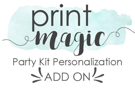 Personalization Add On for Printable Party Kit