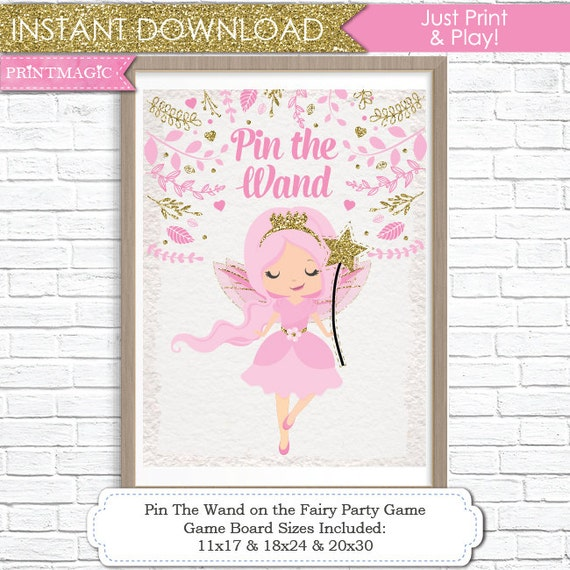 picture about Printable Party Game named Pin the Wand upon the Fairy Printable Bash Activity - 3 Poster Measurements - Fairy Birthday Get together Video game - Fairy Princess Social gathering Activity - Instantaneous Down load