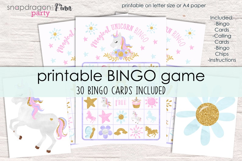 picture about Printable Bingo Chips referred to as Unicorn Bingo Printable Get together Video game - 30 Bingo Playing cards - Unicorn Birthday Bash Video game - Unicorn Occasion Activity - Printable PDF - Immediate Obtain