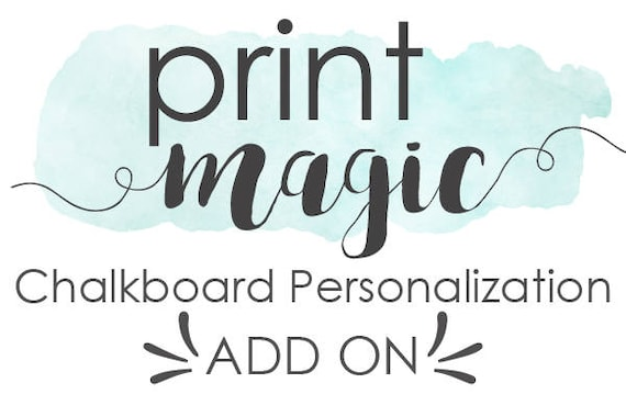 Personalization Add On for Chalkboard Poster