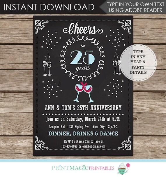 25th Wedding Anniversary Invitation - 50th Wedding Anniversary Invitation - Wedding Anniversary Invitation - Wedding Anniversary Party