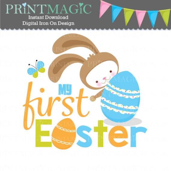 Easter Bunny 1st Easter Digital Iron On - Digital Tshirt Design - Baby 1st Easter- 1st Easter Digital Sticker Design - 1st Easter Sticker