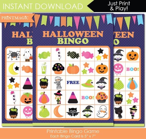 Halloween Party Bingo Printable Party Game - Halloween Party Game - Halloween Bingo - Printable PDF - Instant Download