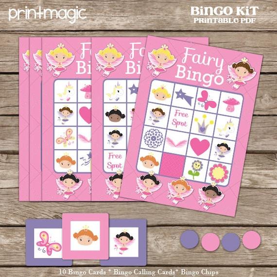 Princess Bingo Printable Party Game - Printable PDF - Instant Download - Princess Birthday Party Game - Fairy Birthday Party Game