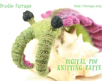 Anomalocaris Knit Toy Pattern, Prehistoric Primordial Beast Softie, Knit Amigurumi Pattern PDF Instant Digital Download