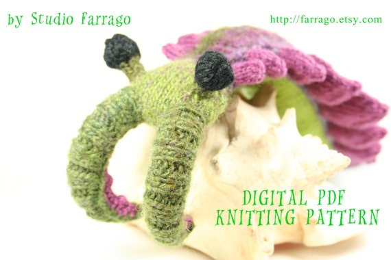 Anomalocaris Knit Toy Pattern Prehistoric Primordial Beast Etsy
