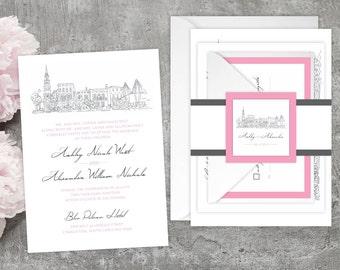Hand drawn wedding invitation | Etsy