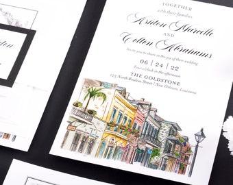 New orleans wedding invitations   Etsy