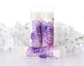 Custom Wedding Favors Chapstick Lip Balm Labels And Tubes WdiL 254