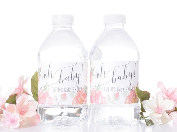 25 Custom Baby Shower Water Bottle Labels Baby Shower Stickers