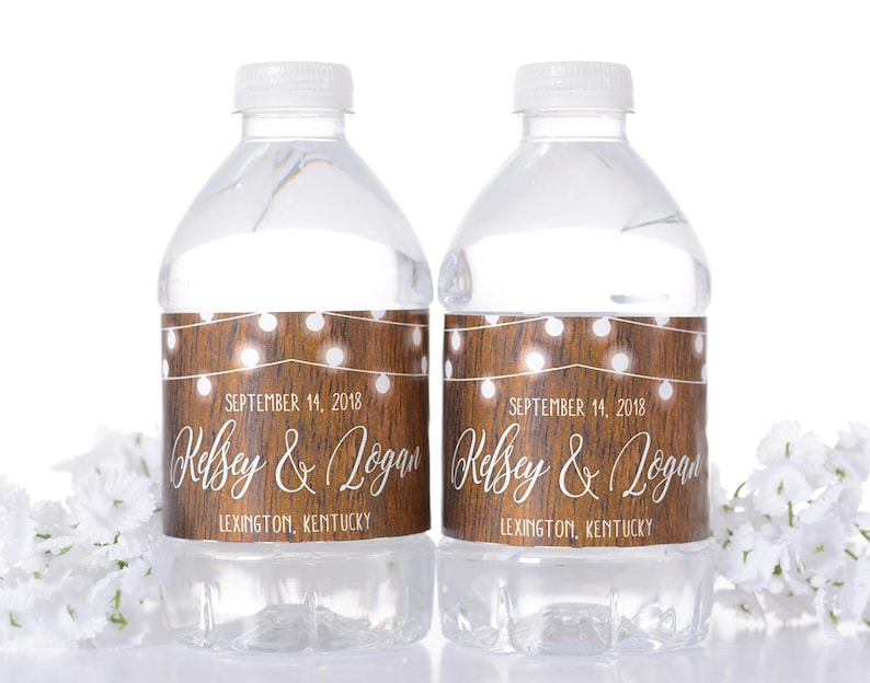 Wedding Water Bottle Labels.Rustic Wedding Water Bottle Labels Vintage Wedding Favor Hanging Lights Wedding Stickers Custom Wedding Water Bottle Labels Wdiw 263