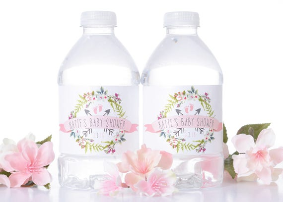 Custom Baby Shower Water Bottle Labels Baby Shower Stickers