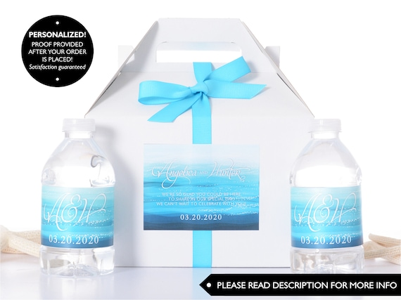 Beach Wedding Boxes Wedding Favor Box Welcome Boxes With Water
