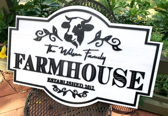 Customized Farm House Sign Family Farm House Farmhouse Decor Rustic Sign Farm Themed Home Decor Farmhouse Gifts Housewarming Gift By Labelsrus Catch My Party