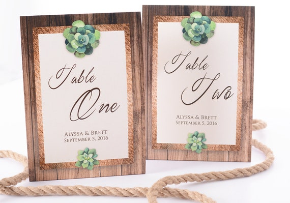 rustic wedding table number tent cards rustic wedding table