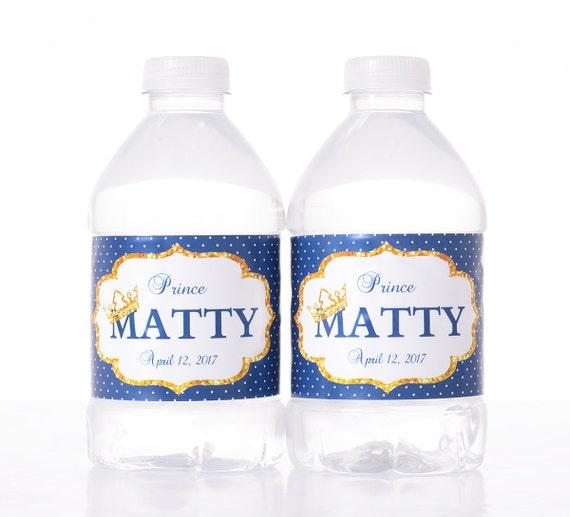 30 Royal Prince Baby Shower Water Labels Royal Princess Baby