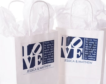 Philadelphia Wedding Favors, Wedding Favor Bags, Wedding Welcome Gift Bags, Hotel Welcome Bags, Philly LOVE Stickers, Guest Gifts #wdiB-266