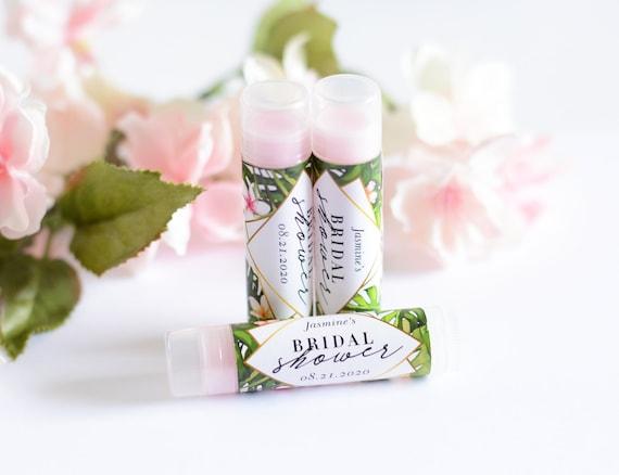 Wedding Lip Balm Favors and Labels Tropical Bridal Shower Chapstick Chapstick Party Favors #bsl-93 Bridal Shower Favors