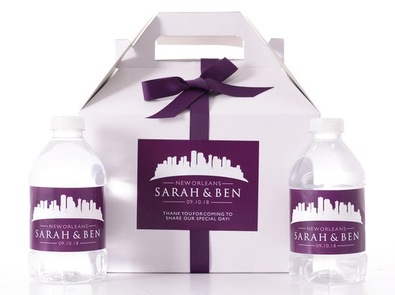 New Orleans Wedding Favor Boxes Hotel Welcome Box Kits With
