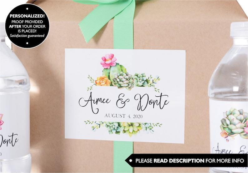 Cactus Wedding Stickers #wdiB-316 Desert Wedding Labels Wedding Box Stickers Custom Favor Stickers Wedding Welcome Bag Stickers