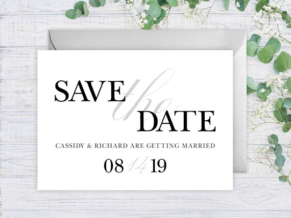 elegant save the date cards 5 x 7 wedding announcement cards