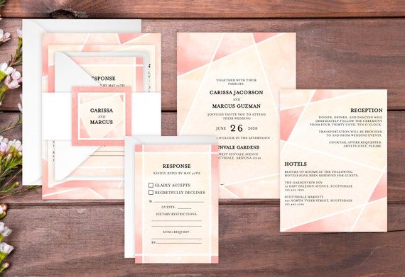 Sample Wedding Invitation Suite Stained Glass Wedding Invite Etsy