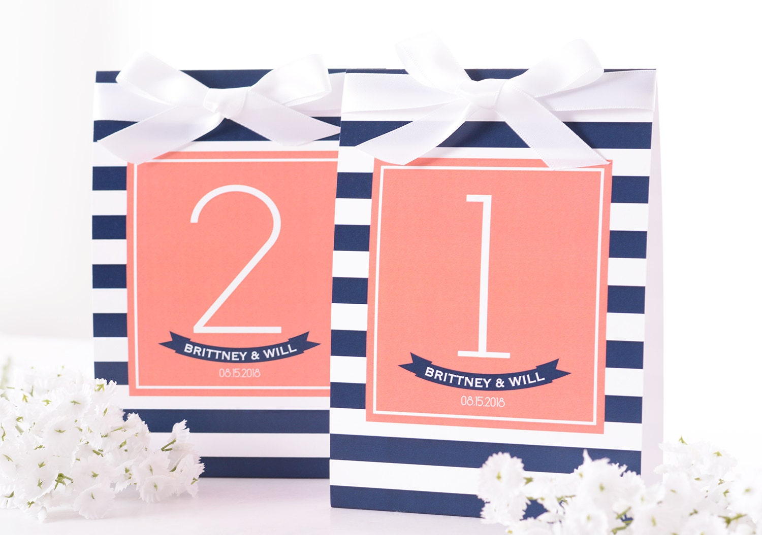 Nautical Wedding Table Number Tent Cards Nautical Wedding | Etsy