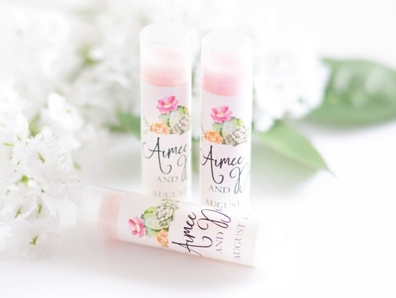 Wedding Lip Balm Labels