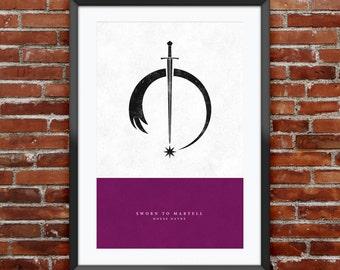 "Game of Thrones - House Dayne print 11X17"""