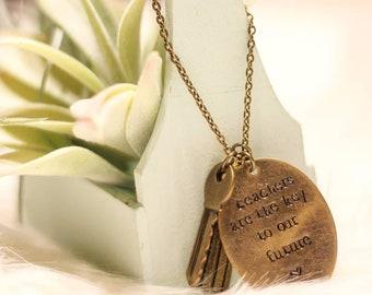 Teacher Key Necklace or Keychain Gift