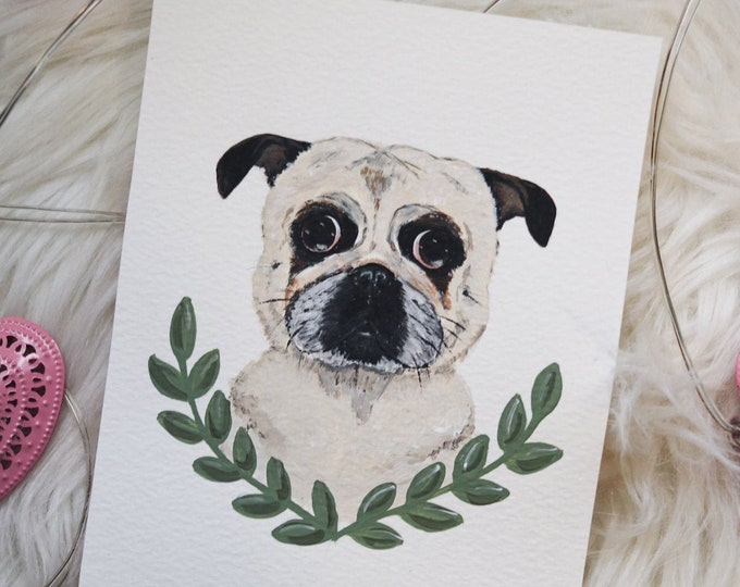 Personalized Handpainted Acrylic Pet Portrait