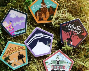 The Lands of Magic Hiking Stickers