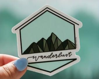 Wanderlust Mountain Logo Sticker