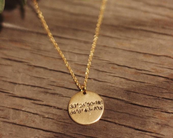 Coordinates Gold/Silver Necklace