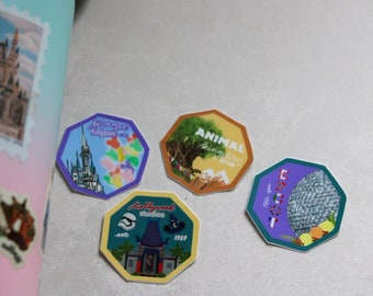 The Parks of Disney Hiking Stickers