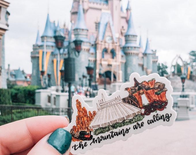 Disney Attraction Water Bottle/ Laptop Sticker