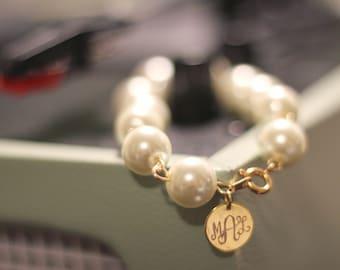 Monogram Pearl Bracelet Gift