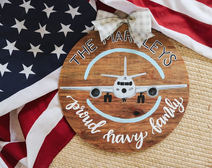 Navy Family Airplane/Anchor Door Hanger