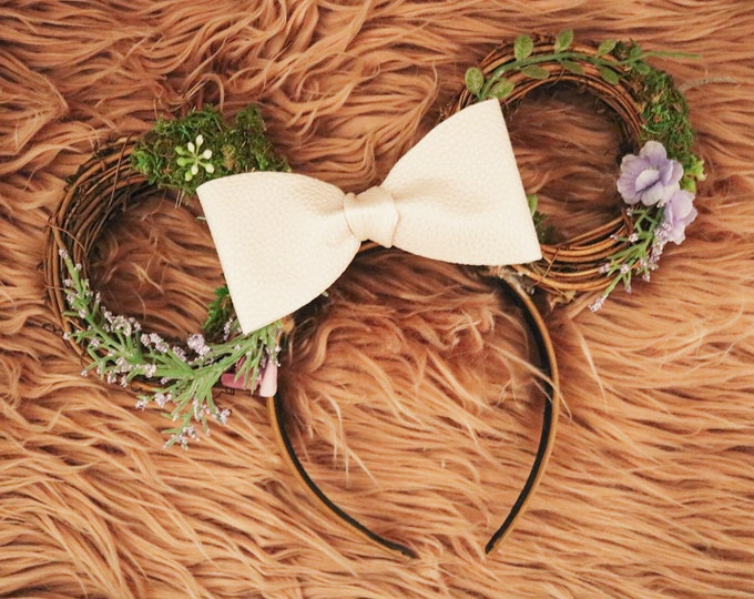 Flower and Garden Woodland Minnie Ears