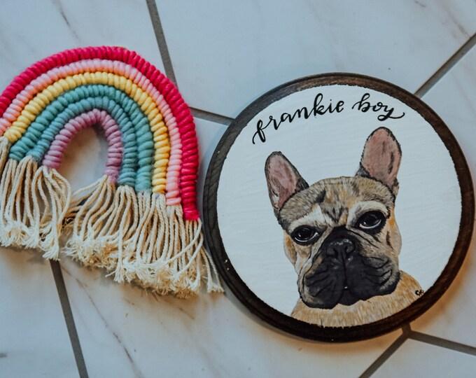 Personalized Handpainted Acrylic Pet Portrait