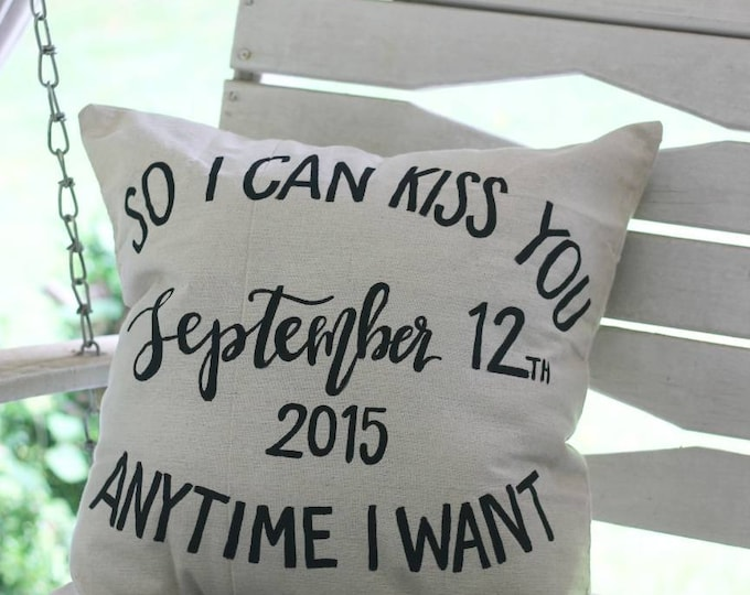 Cotton Anniversary Pillow